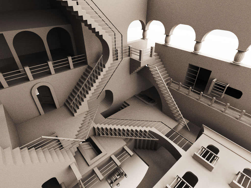 the one true way - mc escher stairway